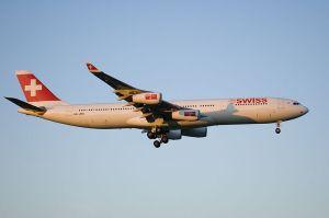 Swiss A340 Landing