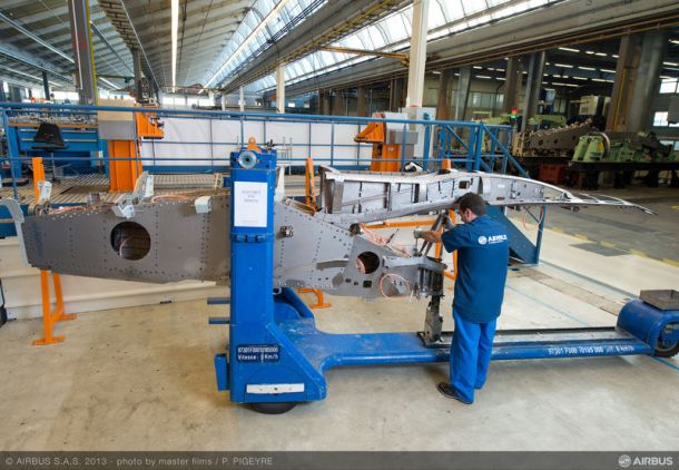 First major  component assembly photo. © Airbus S.A.S 2013 Photo by P. Pigeyre