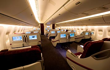 atar Airways' Boeing 777-200LR Business Class.