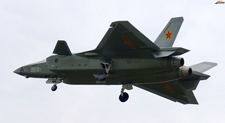 J-20 being tested in spring 2015. Photo: fyjs.cn/Gangwa