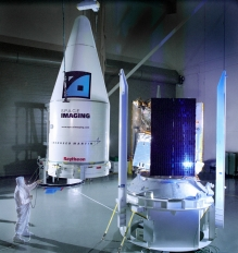IKONOS, launched from Vandenberg Air Force Base, on September 24, 1999, and has taken thousands of photos of the earth for national security, disaster relief, agriculture and more. Carried aboard an Athena rocket, IKONOS traveled into a Low Earth Orbit, approximately 400 miles above the earth.