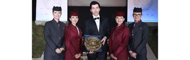 Qatar Airways Senior Vice President of Customer Experience, Mr. Rossen Dimitrov received the award on behalf of Qatar Airways.