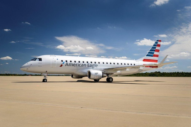 American's E-175s feature a two-class configuration with 12 First Class seats and 64 Main Cabin seats.