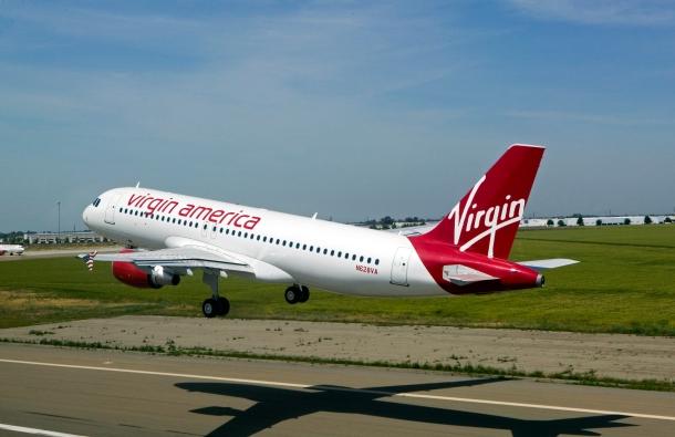 Airbus 320, Vigin America, aircraft, jet, passenger transport, aerial, airliner, airline,