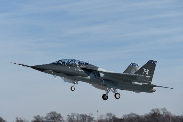 Boeing [NYSE: BA] and partner Saab [Stockholm: SAABB] today completed the first flight of their all-new T-X aircraft, which is designed specifically for the U.S. Air Force's training requirements. (Boeing photo)