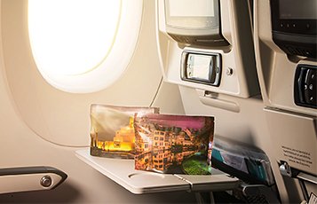 The bags feature inspiring images of destinations on Qatar Airways' route network
