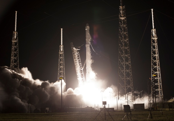 On July 18, 2016, SpaceX's Falcon 9 rocket lifted off from Cape Canaveral Air Force Station's Space Launch Complex 40, in Florida, carrying the Dragon resupply spacecraft to the International Space Station for the company's ninth commercial resupply mission. SpaceX currently is targeting Saturday, Feb. 18, for its 10th resupply mission, this time launching from launch complex 39A at NASA's Kennedy Space Center in Florida. Credits: NASA/Tony Gray