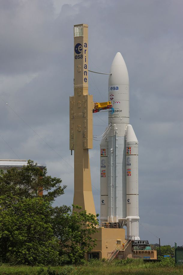 """First successful launch of the year for Ariane 5     6 more Ariane 5 launches scheduled for 2017     Airbus Safran Launchers is now the major shareholder in Arianespace, and is  the industrial lead contractor for Ariane 5 and the future Ariane 6   For its first launch of the year, Ariane 5 successfully completed its mission from the European space port of Kourou (French Guiana) for the 77th consecutive time, placing two telecommunications satellites in geostationary transfer orbit (GTO).   The launch performance achieved by this Ariane 5 ECA was 10,450 kg in GTO (of which 9,569 kg was accounted for by the satellites). The launcher improvement program enabled the inclination angle to be reduced to 4° in order to minimize the energy the satellites need to reach their final orbit.   """"I must congratulate the teams at Airbus Safran Launchers and of course those at Arianespace for this first success of 2017, a year which will include six more launches. Together and working more closely than ever, we will continue regularly to improve the performance of the launcher for commercial satellite operators and institutional customers. In an increasingly competitive market, our aim is to make the Ariane 5 launch system even more efficient and competitive,"""" declared Alain Charmeau, CEO of Airbus Safran Launchers, from Kourou. """"I also wish to thank the European Space Agency and CNES for their confidence and their unfailing support"""".   Operational in the field of commercial launchers since 2015, Airbus Safran Launchers was definitively completed on 1 July, 2016 and became the 74% majority shareholder of Arianespace on 31 December 2016. This new governance makes possible an overall approach to market needs from launcher design and construction up to commercialization, thus reinforcing industrial efficiency and operational flexibility for the benefit of Arianespace's customers.   Ariane 5 is the spearhead of European know-how and one of the most wide-ranging and ambitious space progra"""