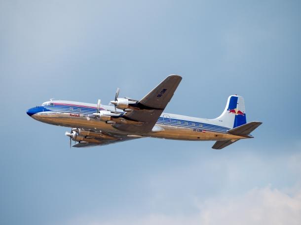 A photo of the Flying Bulls Douglas DC6 B